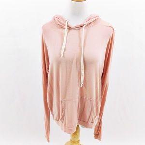 Brandy Melville Pink Hooded Sweatshirt